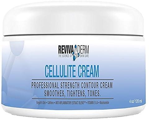 RevivaDerm Cellulite Creme Extra straffende Körperlotion - speziell formuliert, um Hautfestigkeit zu verbessern, straffende & Körper-Toning - Hilft Entfernungen von Beinen, Arme, Magen, Gesäß - 4 (Entfernung Von Cellulite)