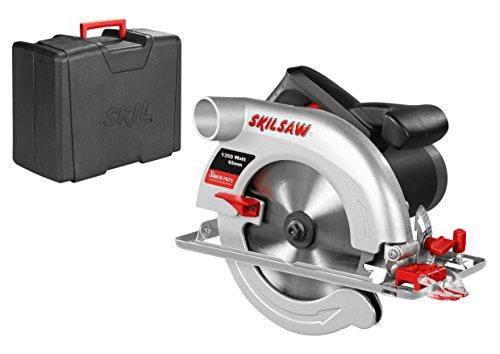 Skil 5765AD Scie Circulaire 65 mm (1350W, Raccord pour Aspirateur, Guide Parallèle, Lame Carbure 184 mm, Coffret)