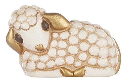 Thun agnello presepe classico, ceramica, variopinto