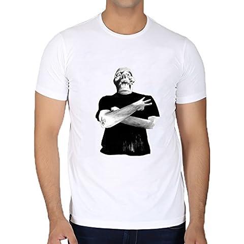 Camiseta Cuello Redondo para Hombre - Recortar Tres! by zombierust
