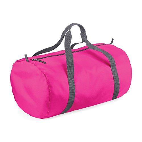 BagBase wasserdichte Tasche fur Reisen Packaway Barrel Tasche 50x30x26cm 32L Feiertags-Taschen fuchsia