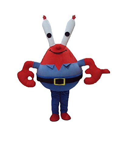 abs » Crab Eugene H. Krabs Halloween Maskottchen Kostüm für Erwachsene Fancy Dress Outfit (H Fancy Dress Kostüme)