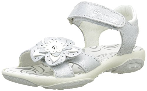 Primigi Girls' DAFNE Open Toe Sandals Silver Size: 1 UK