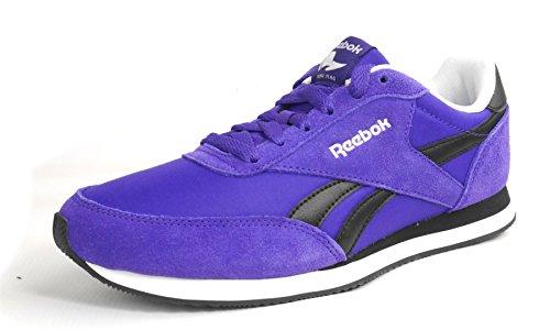 Reebok - Royal CL Jog Team - V70713 - Couleur: Noir-Violet - Pointure: 37.5
