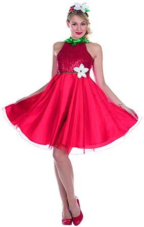 Erdbeere Kostüm Kleid - Kostüm Erdbeere, Gr. 38, Kleid rot