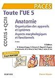 Toute l'UE 5 - Anatomie - Cours + QCM: Organisation des appareils et des systèmes - Aspects morphologiques et fonctionnels