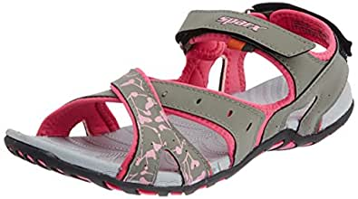 Sparx Women's Grey and Pink Fashion Sandals - 4 UK (SS0409L)