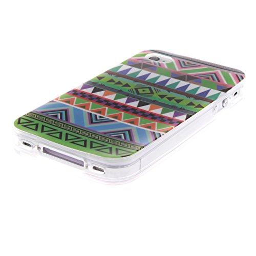 """SsHhUu iPhone 4s Coque, Unique Letters Formula Ultra Slim Doux TPU Flexible Durable Gel Silicone Protecteur Rear Skin Painting Art Étui Housse Case Cover Pour Apple iPhone 4s 3.5"""" National Stripe"""