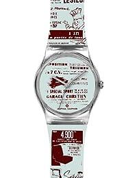 Alpha Saphir 315I - Reloj analógico unisex de cuarzo con correa de plástico multicolor - sumergible a 30 metros