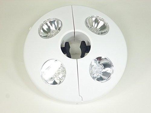 LED Sonnenschirmleuchte weiß D20cm batteriebetrieben 1,5V Schirmlampe Sonnenschirm Licht