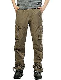 7884ae08f2e0e Pantalones de Hombre Pantalones Deportivos Al Aire Libre Secado rápido Pantalones  Casuales Sólido Suelto Persona Que