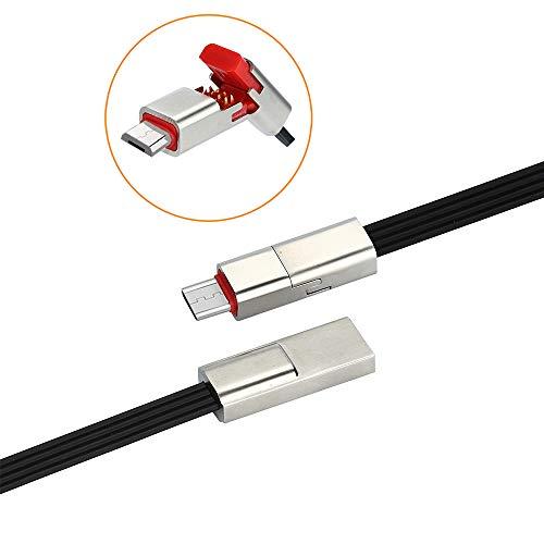 Micro USB Kabel,Android Reparierbares USB-Datenladegerät,1.5m Hochgeschwindigkeit Ladekabel für Smartphones, Samsung Galaxy S7, HTC, Huawei, Sony, Nexus, Nokia (Schwarz) (Usb-kabel Kürzeste)