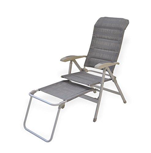 Reposapiés de acampada Zen. Reposapiés para sillón plegable con reposabrazos. Reposapiés para asiento para Camper. Reposapiés para silla plegable de playa, playa, Montaña, tiempo libre. Dimensiones 48x 49x 47cm