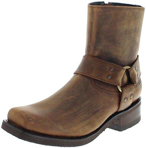 Sendra Boots 12851 Tang Lavado/Herren Bikerstiefelette Braun/Herrenstiefelette, Groesse:47 -