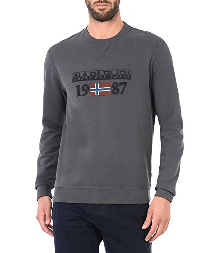 Napapijri Herren Sweatshirt Berthow Crew Dark Grey Solid
