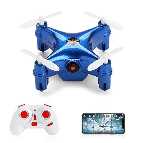 Goolsky- WLtoys Q343A Mini Drone con cámara 480P WiFi FPV Altitude Mantener sin Cabeza 3D Flip RC Training Quadcopter
