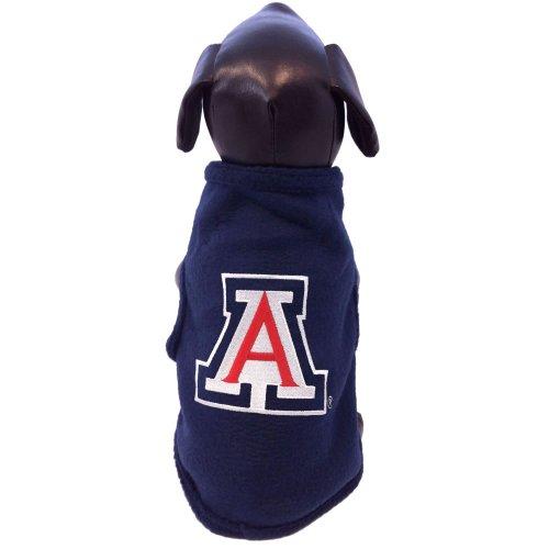 All Star Dogs NCAA Arizona Wildcats Ärmelloses Polar Fleece Hunde-Sweatshirt, Herren, Navy, X-Small