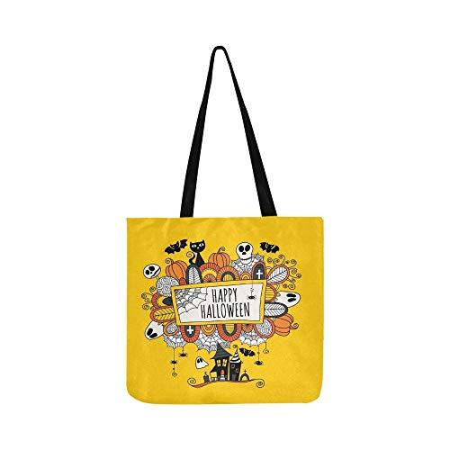 rter Happy Canvas Tote Handtasche Schultertasche Crossbody Taschen Geldbörsen Für Männer Und Frauen Einkaufstasche ()