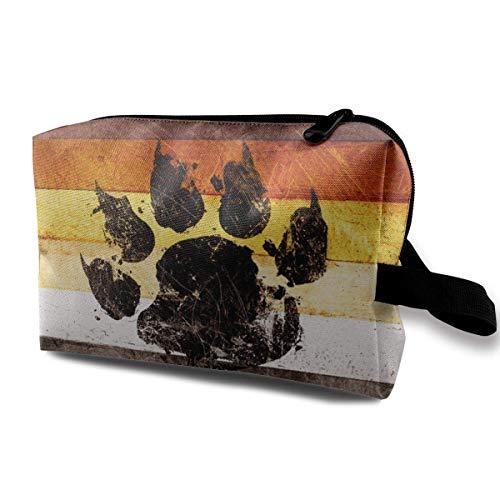 a0bfac86 Gay Bear Flag Portable Make-up Receive Bag Hand Cosmetic Bag Makeup Bag  Sewing Kit