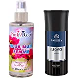Yardley Elegance Body Spray For Men 150ml And Pink Root Club Nuit Femme Fragrance Body Spray 200ml Pack Of 2