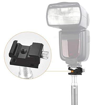 UTEBIT Cold Shoe Mount Aluminum Alloy Speedlight Flash Stand Holder inch Screw Hole Hot Shoe Adapter compatible for Nikon Flash Light Ball Head