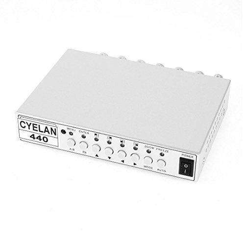 4CH Color Real Time Video Quad CCTV Splitter Processor Switch System Quad Video Splitter