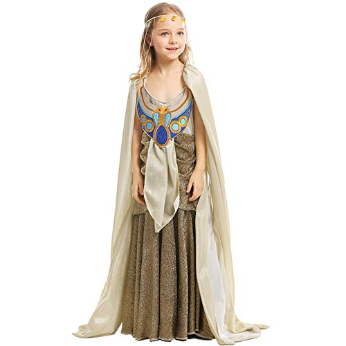 Childs Cleopatra Kostüm - ZQ Mädchen Cleopatra Kostüm Kinder ägyptische Prinzessin Dress Queen of The Nile Outfit Halloween-Kostüm,Child,L