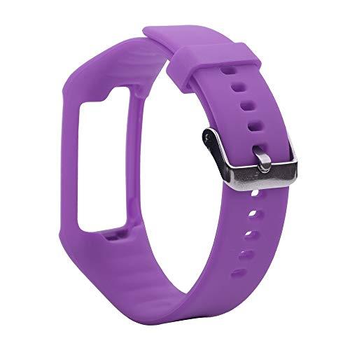 LUOFUSHENG Smartwatch-Uhrenarmbänder Silikon-Sporthandgelenksschlaufe for Polar A360 / A370 (Schwarz) Ersatzarmbänder (Farbe : Lila)