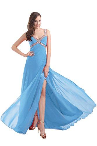Bridal_Mall - Robe - Trapèze - Sans Manche - Femme Bleu ciel
