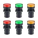 sourcing map 6Stk Anzeigeleuchten LED Schalttafeleinbau AC 220V 7/8