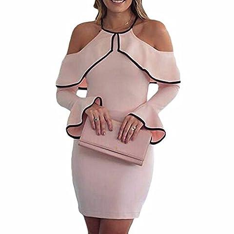 Serda Womens Bodycon Off Shoulder Dress Ladies Party Evening Pencil Dress