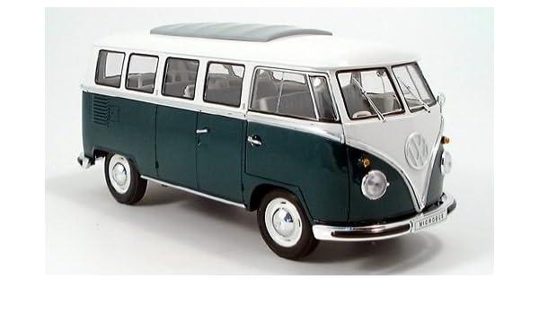 VW T1 Bus grün-weiß  1:24 Welly  Modellauto