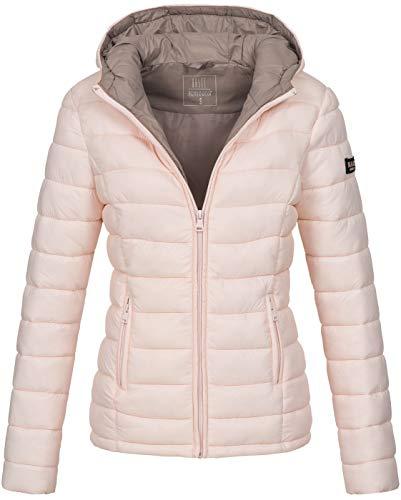 Marikoo Damen Jacke Steppjacke Übergangsjacke gesteppt B651 [B651-Luc-Rosa-Gr.L] Damen Steppjacke