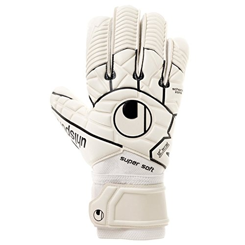 uhlsport COMFORT TEXTILE - Gant gardien football - Paume Latex Supersoft - Coupe classique - blanc/noir