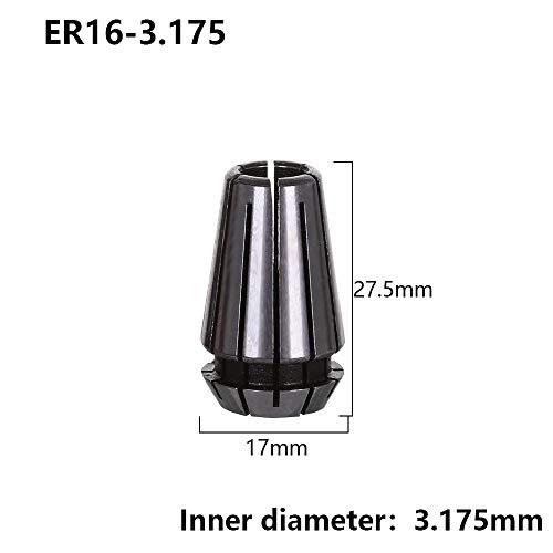 jumpeasy 1pc Heißer Verkauf ER16 3mm 1/8 Inkh (3.175mm) Für CNC Werkzeuge für Mühlen Spring Collet Chucks ER16 Werkzeughalter (optional) (ER16-3.175)