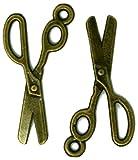dojore 20x Antik Bronze vergoldet Schere Charms. 3cm x 1,3cm Anhänger. Einzigartige braun Vorräte für schaffen Schöne Schmuck.