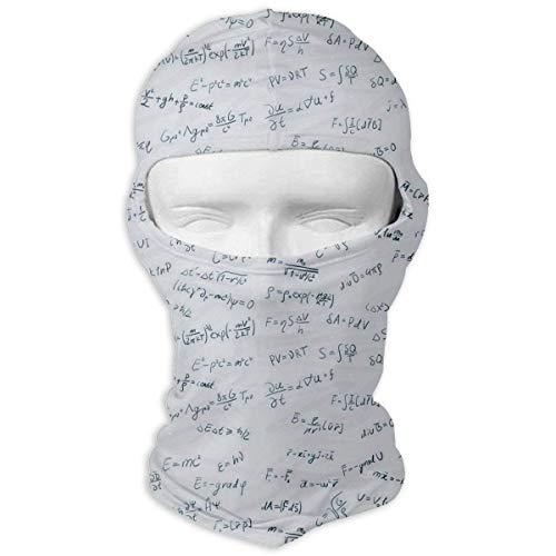 Xukmefat Versicherungsmathematik Tactical Multi Use Sport-Gesichtsmaske Leichter Kopftuch zum Wandern, Laufen
