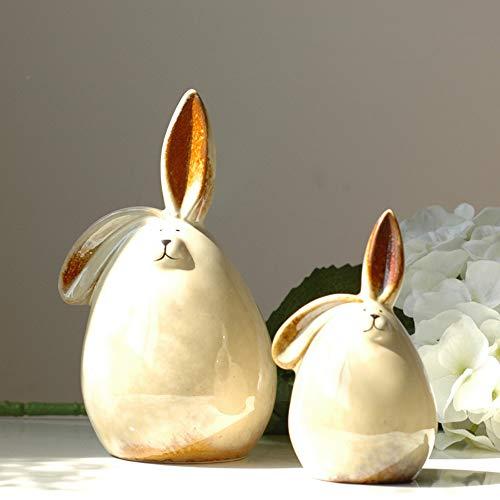 Jackeylove Home-Dekoration Keramik Hochzeits-Dekorationen Paar Kaninchen Piggy Bank Piggy Bank 1 Paar Hochzeitsgeschenke -