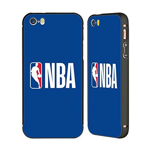 Ufficiale NBA Banner Logoman Nero Cover Contorno con Bumper in Alluminio per Apple iPhone 6 Plus / 6s Plus Semplice