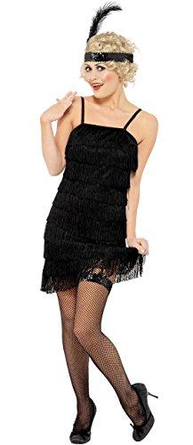 Luxuspiraten - Charleston 20er Jahre Kleid Kostüm für Damen, XL, Schwarz (Shimmy Kleid Kostüm)