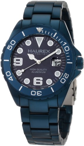 Haurex Italy Men's 7K374UB2 Ink Aqua Aluminum Bracelet Date Watch