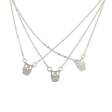Lux Accessoires BFF Best Friends Forever Chouette chat Kitty Animal de collier assorti.