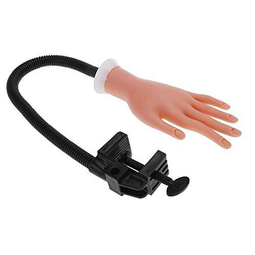 Anself Pro Mano de Caucho Flexible de Práctica para Aprendizaje de Manicura Uñas y Exhibición