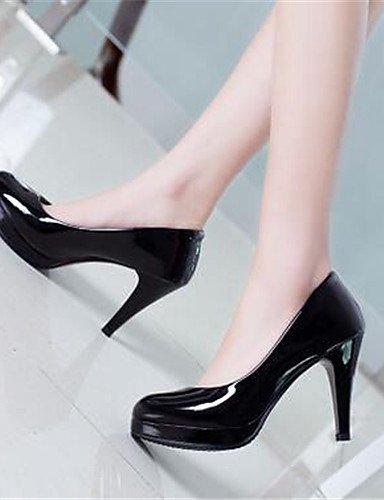 WSS 2016 Chaussures Femme-Bureau & Travail / Habillé-Noir-Talon Aiguille-Talons-Talons-Similicuir black-us6 / eu36 / uk4 / cn36
