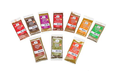 Curry Spice Kit 10 Spices- FREE UK POSTAGE World Class Quality (Perfect Refills For An Authentic Indian spice Tin)