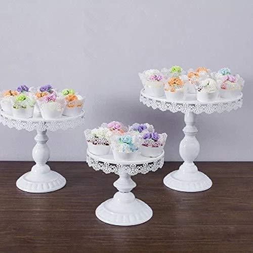 Sorliva Tortenständer, weiß, rund, Cupcake-Ständer, Dessert-Display mit Anhängern
