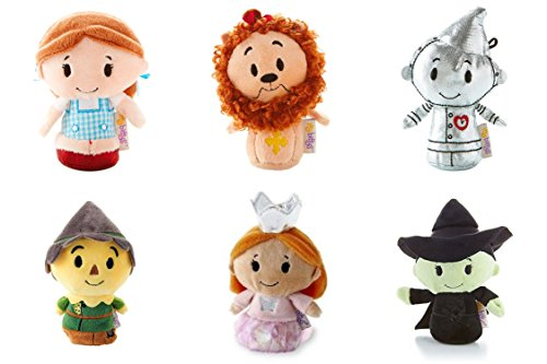Itty Bittys - Full Set of 6 - Wizard of Oz - TinMan, Dorothy , Scarecrow & Cowardly Lion & Good and Wicked Witch