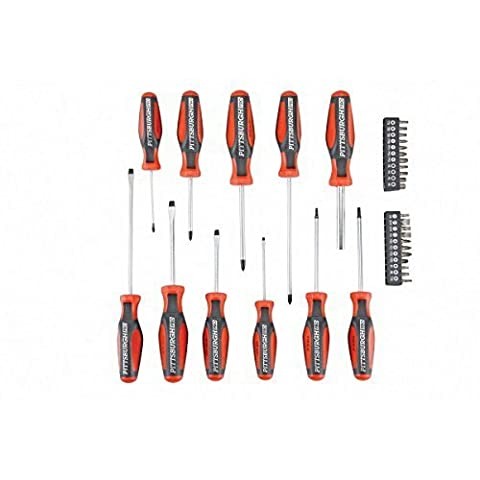 Comfort Grip Screwdriver Set 33 Pc by Pittsburgh Pro