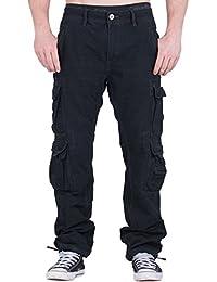 JETLAG 008 Herren Loose Fit Cargo Hose Pant div. Farben (30W/32L - 42W/34L) + BetterStylz Webgürtel