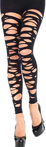 Leg Avenue Damen Leggings Schwarz mit Schlitzen Einheitsgröße 36 bis 40 -